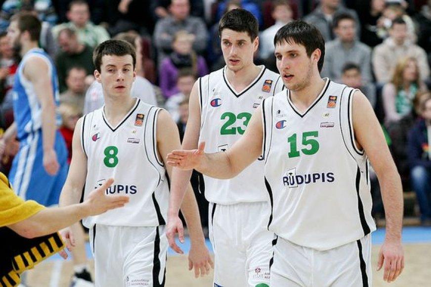 """""""Rūdupio"""" žaidėjai (iš kairės): A.Juškevičius, J.Sinica ir G.Orelikas"""