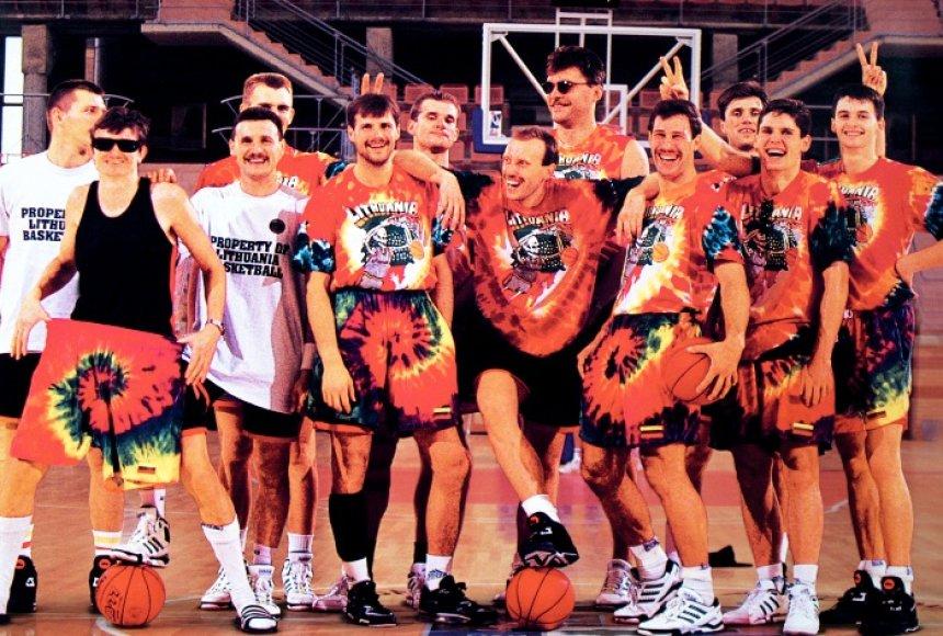 Lietuvos krepšinio rinktinė Barselonos olimpinėse žaidynėse.
