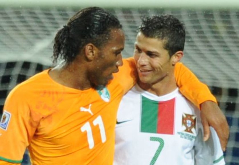 D.Drogba ir C.Ronaldo