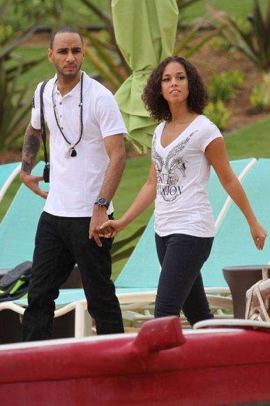 Alicia Keys su sužadėtiniu