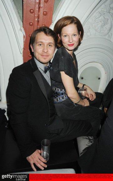 Markas Owenas su žmona