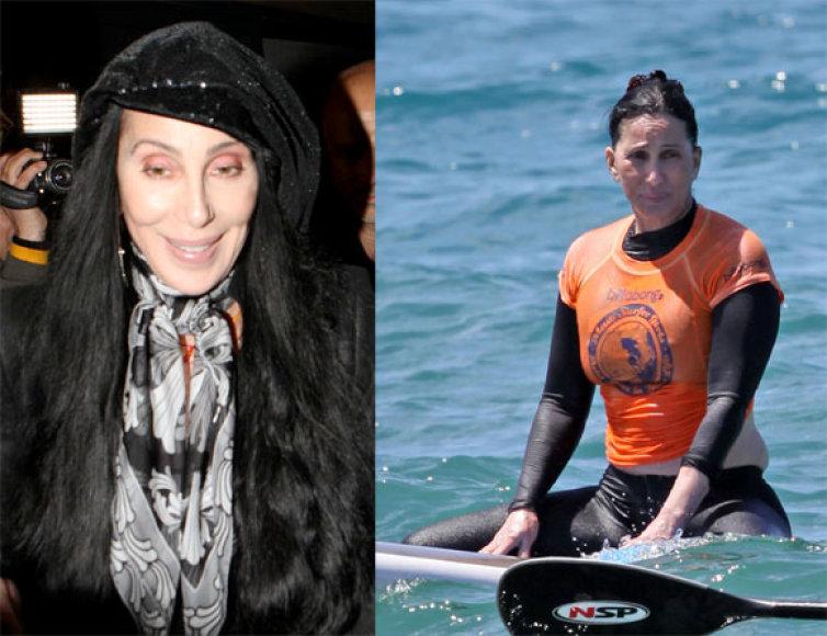 Cher dabar ir anksčiau