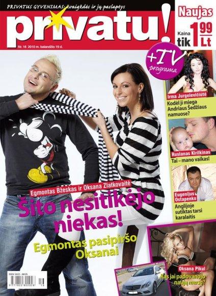 Egmontas Bžeskas ir Oksana Zlatkovaitė