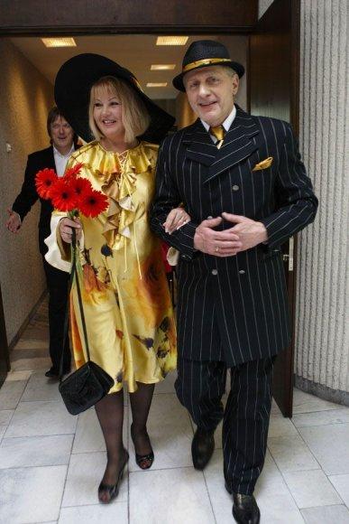 Viktoras Malinauskas su žmona Elena