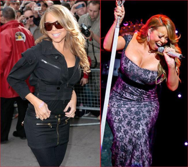 Mariah Carey anksčiau ir dabar