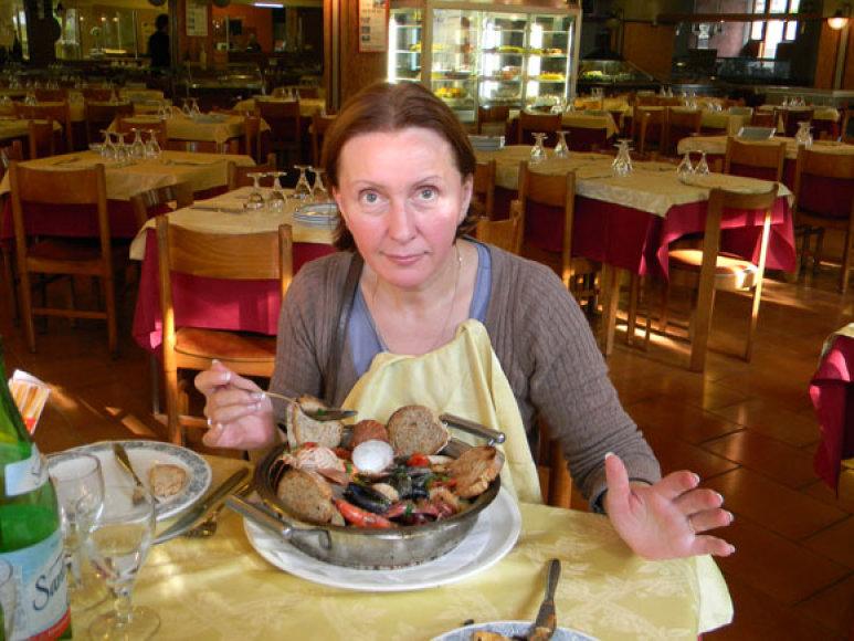 Vaiva Budraitytė ir itališka jūros gėrybių sriuba