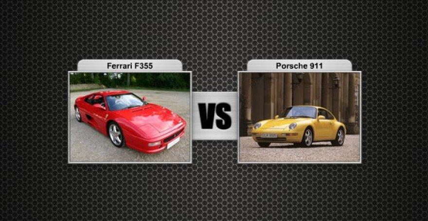 Ferrari F355 prieš Porsche 911