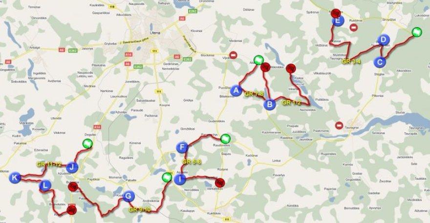 """""""Halls Winter Rally"""" bendras žemėlapis"""