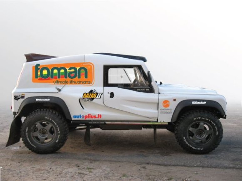 """Dykumų raliui parengtas  """"Foman Ultimate Lithuanians"""" automobilis  """"Bowler Wildcat"""""""