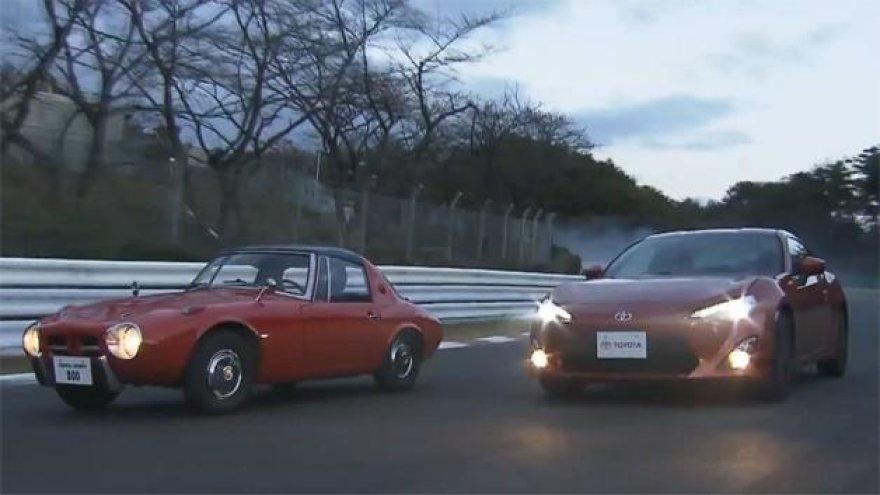 """""""Toyota GT86"""" susipažino su savo protėviais"""