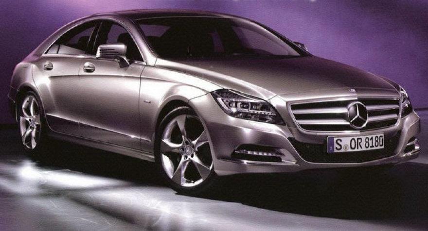 """Pirmosios """"Mercedes-Benz CLS"""" nuotraukos"""