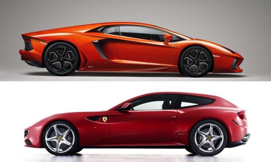 """""""Ferrari FF"""" ir """"Lamborghini Avendator"""""""