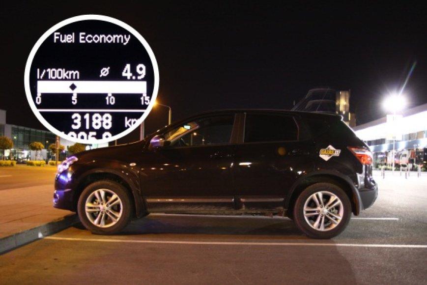 """Vienu """"Nissan Qashqai"""" kuro baku – 1200 km"""