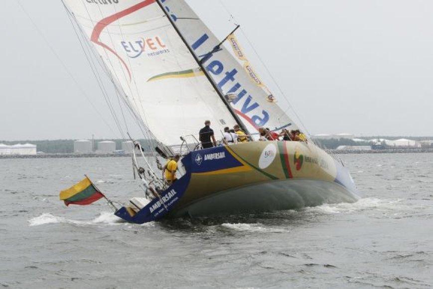 Lietuvos krepšinio rinktinė išplaukė į Baltijos jūrą.