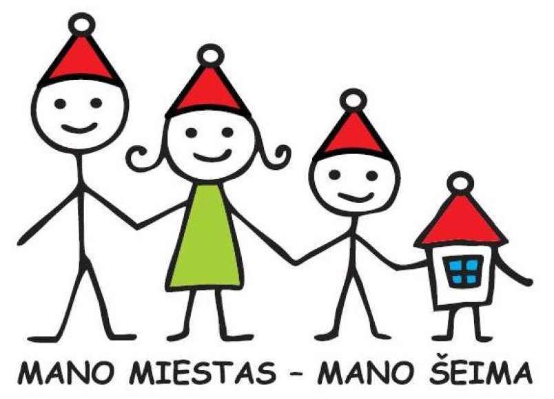 Mnao miestas - mano šeima logotipas