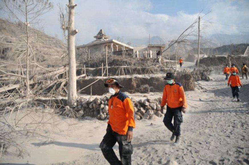 Indonezijoje išsiveržė ugnikalnis Merapi