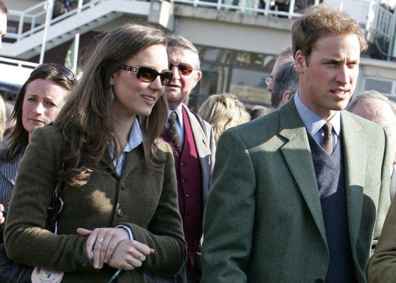 Kate Middleton ir Didžiosios Britanijos princas Williamas