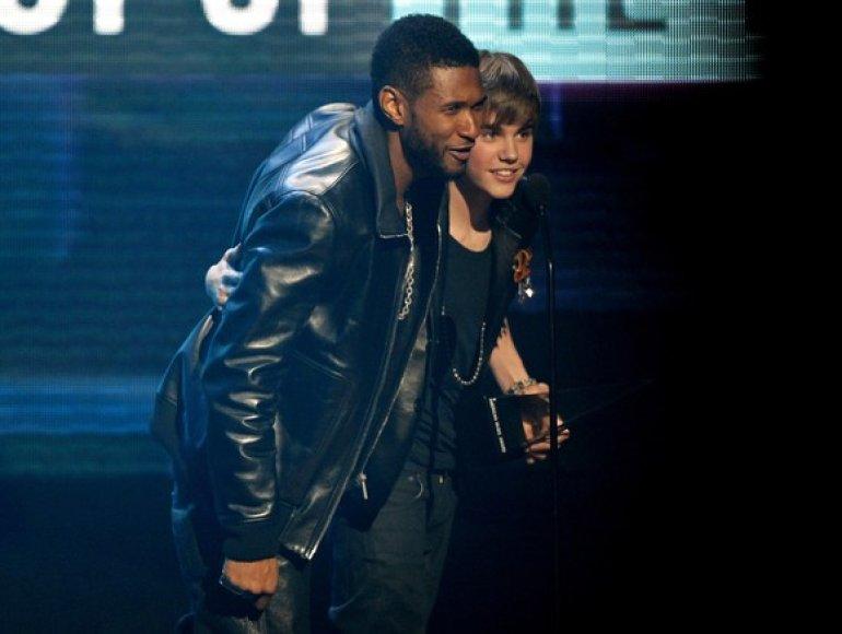 Usheris Raymondas ir Justinas Bieberis