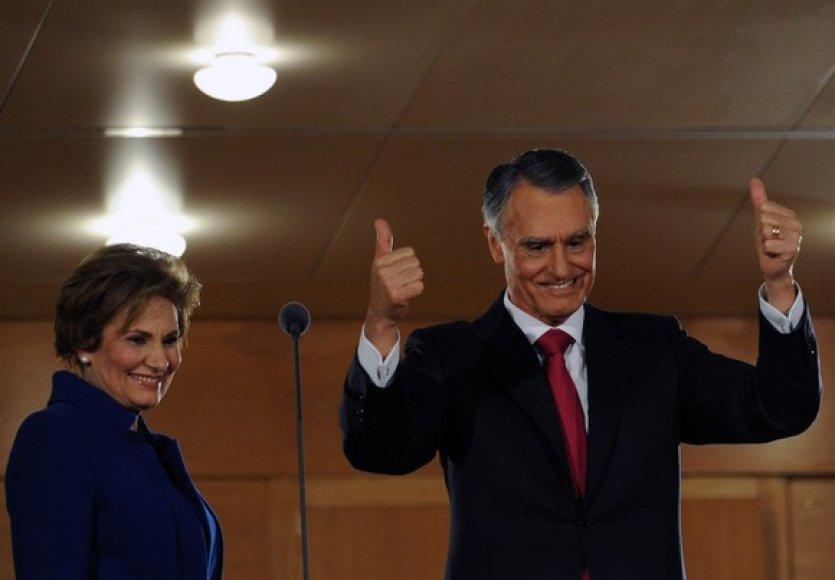 Anibalas Cavaco Silva su žmona Maria