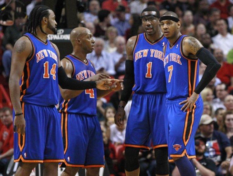 """Niujorko """"Knicks"""" krepšininkai"""