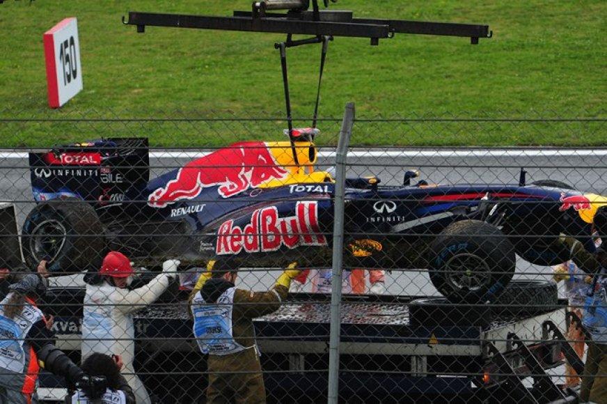Sebastiano Vettelio formulė po avarijos