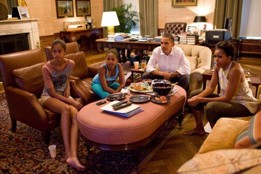 JAV prezidentas Barackas Obama su šeima