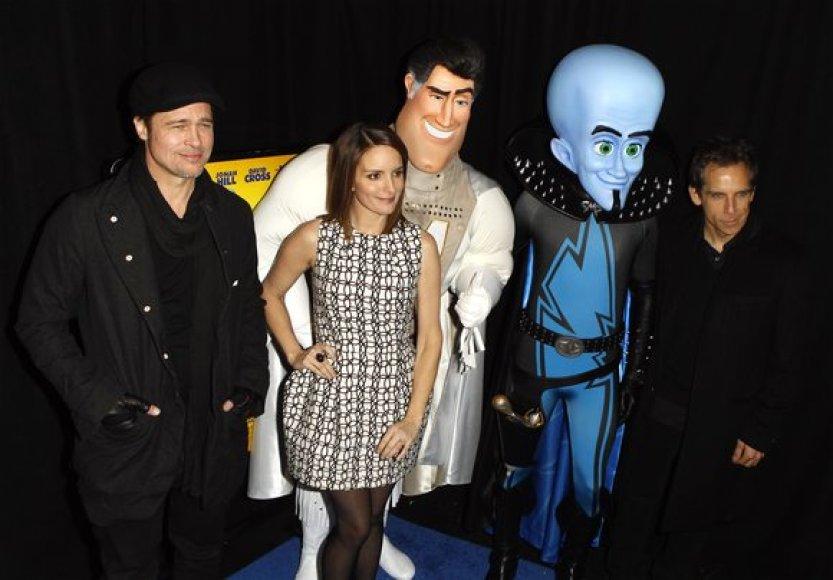 Bradas Pittas, Tina Fey ir Benas Stilleris