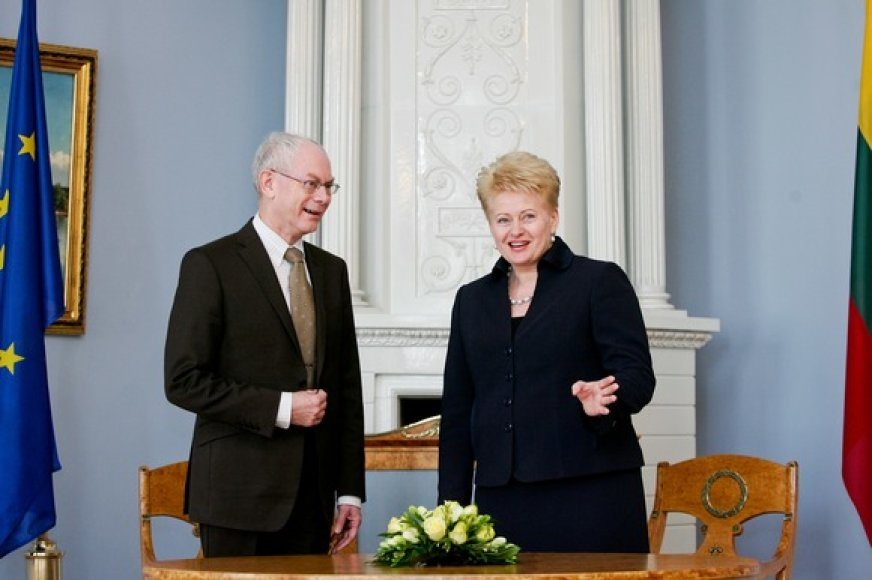 Hermanas van Rompuy ir Dalia Grybauskaitė