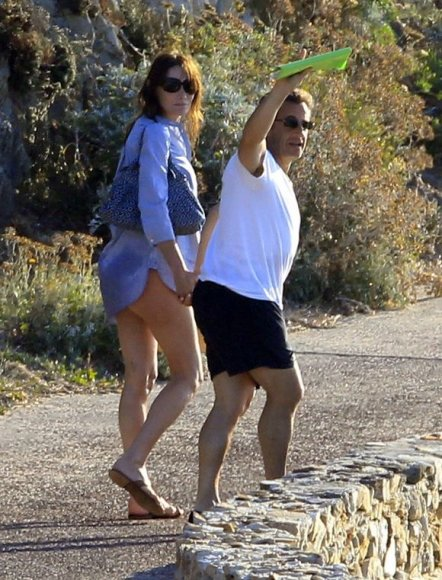 Prancūzijos prezidentas Nicolas Sarkozy su žmona Carla Bruni-Sarkozy