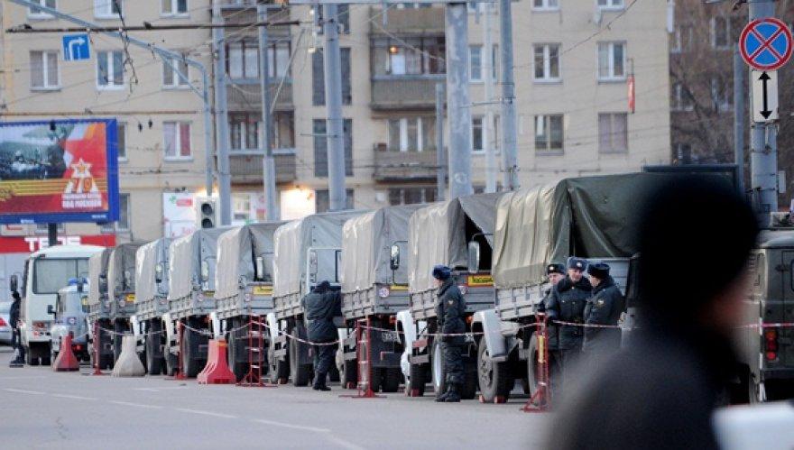 Rusijos kariai budi Maskvos centre.