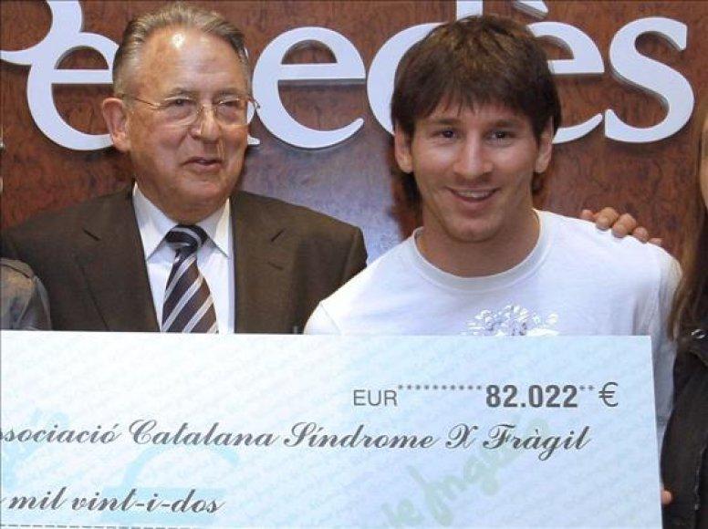 J.Colomeris L.Messi atrado prieš dešimt metų