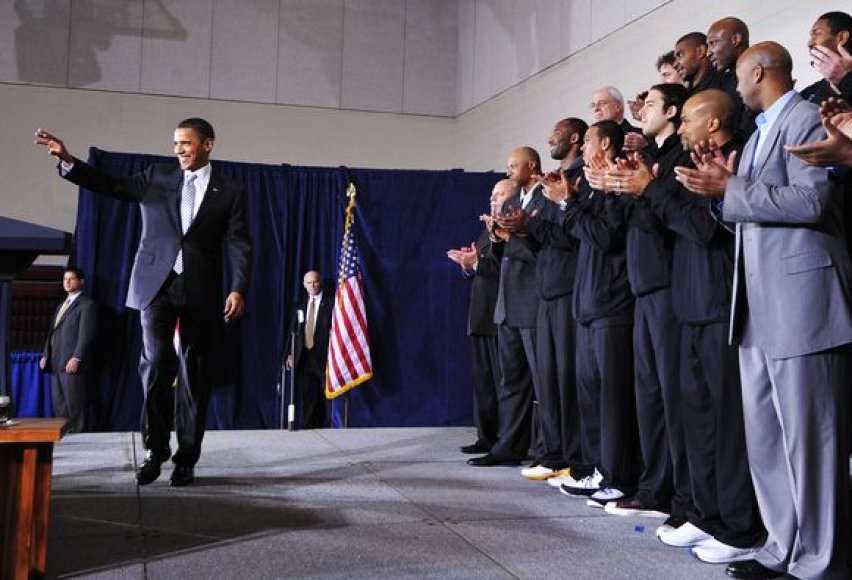 JAV prezidento ir NBA čempionų susitikimas