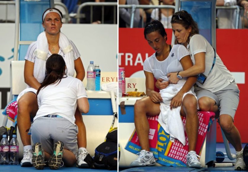 Francesca Schiavone ir Svetlana Kuznetsova tapo istorinio momento dalyvėmis.