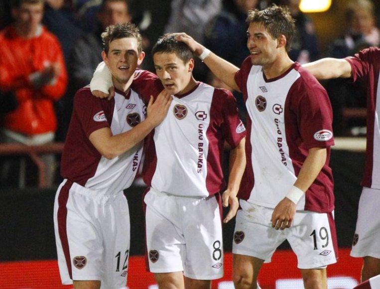 Edinburgo futbolininkai sužaidė lygiosiomis