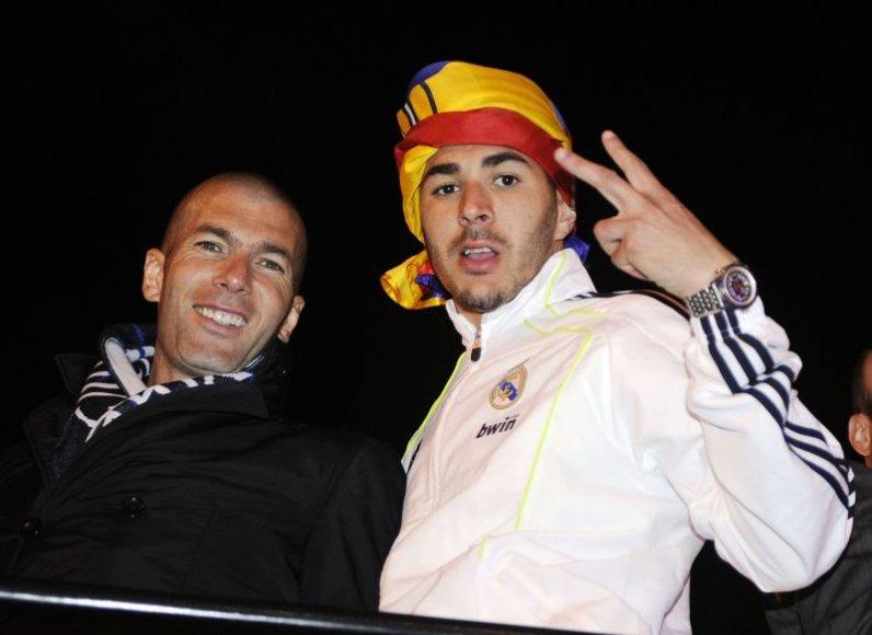 Zinedine'as Zidane'as ir Karimas Benzema
