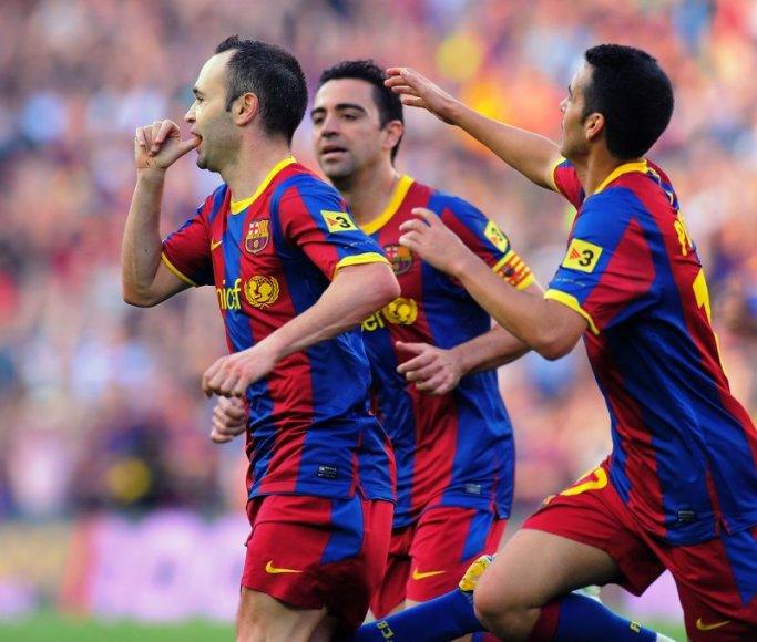 Iniesta, Xavi Hernandez ir Pedro Rodriguez