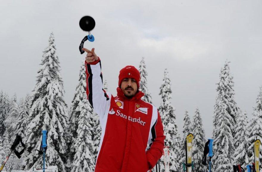 """Ferrari"" lenktynininkas F.Alonso didžiausiu konkurentu vadina M.Schumacherį"