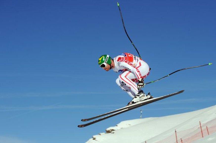 Pasaulio kalnų slidinėjimo taurės etapą šeštadienį laimėjo austras