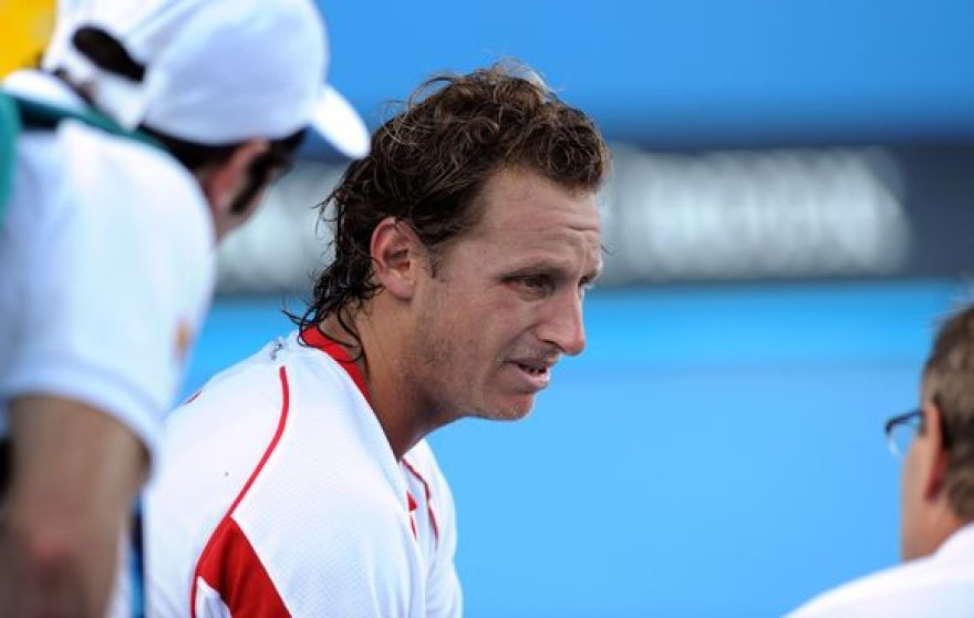"""""""Australian Open"""": Davidas Nalbandianas nutraukė dvikovą, Ričardas Berankis šventė istorinę pergalę"""
