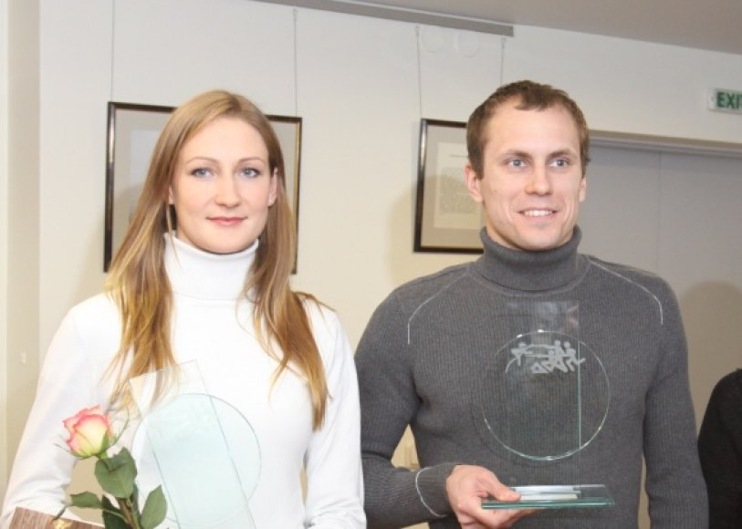 Geriausi 2010 m. Lietuvos penkiakovininkai Donata Rimšaitė ir Justinas Kinderis