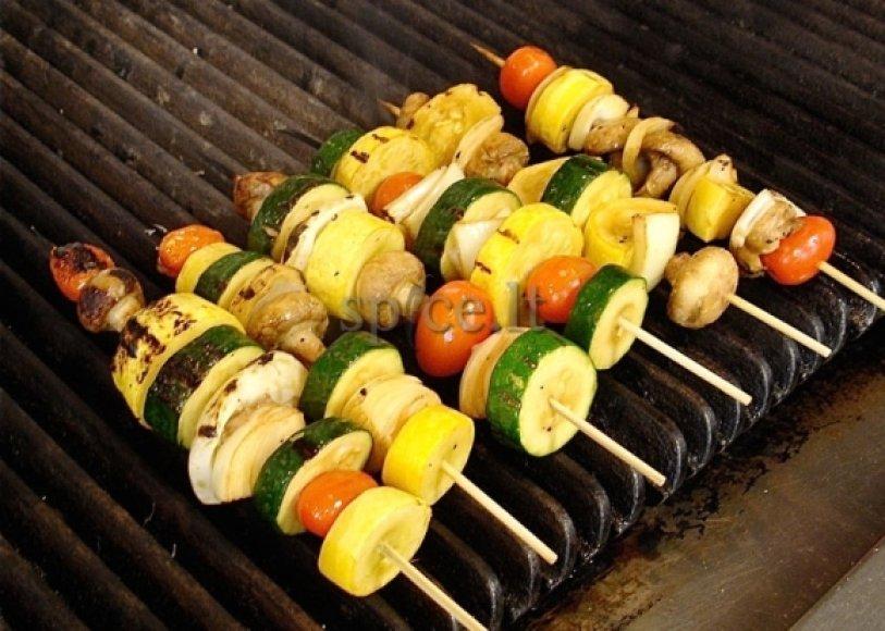 Keptos daržovės gali būti valgomos ir vienos, ir kaip garnyras.
