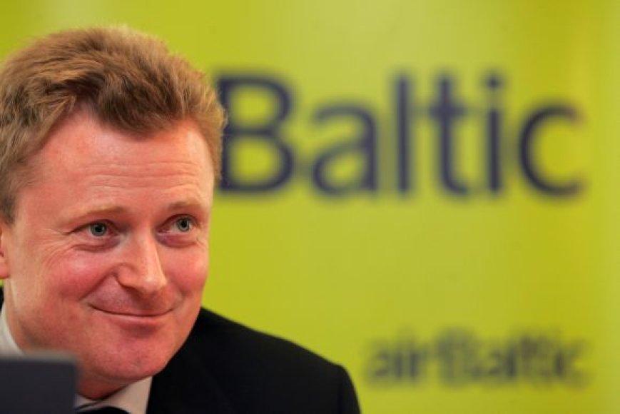 "Oro bendrovės ""airBaltic"" prezidentas Bertoltas Flickas."