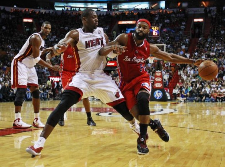 """Heat"" – ""Clippers"" rungtynių akimirka"