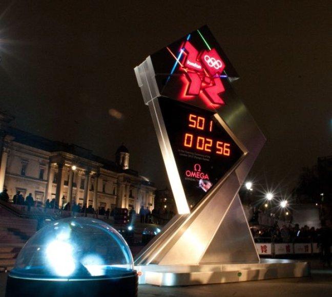 Laikrodis Trafalgaro aikštėje skaičiuos laiką, likusį iki Londono olimpinių žaidynių