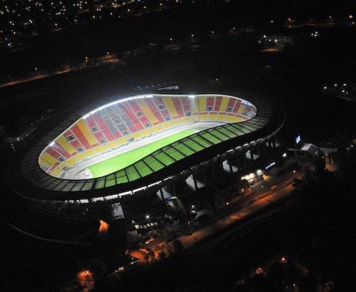 Taip atrodo rekonstruotas futbolo stadionas Makedonijos sostinėje