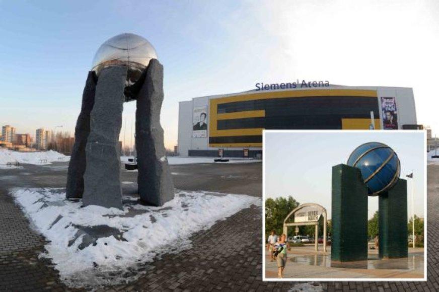 Sunku paneigti, kad skulptūrų krepšiniui Vilniuje ir Belgrade idėjos panašios