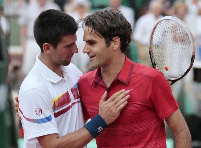 Novakas Džokovičius ir Rogeris Federeris