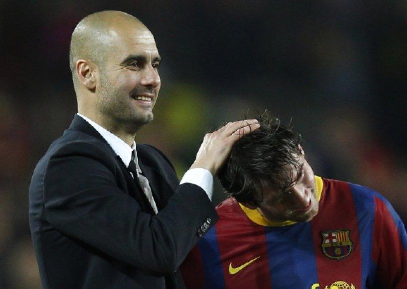 Pepas Guardiola ir Lionelis Messi