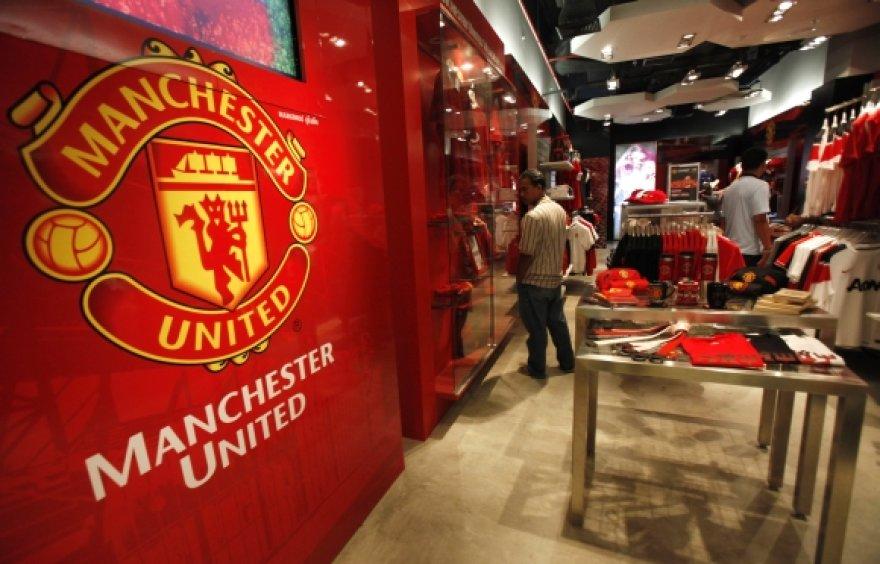 """""""Manchester United"""" suvenyrų parduotuvė"""