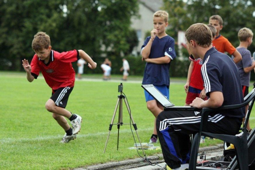 Jaunųjų futbolininkų testavimas